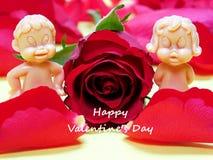 Couples des poupées dans l'amour Image stock