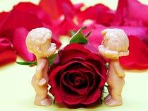 Couples des poupées dans l'amour Images libres de droits