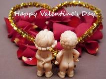 Couples des poupées dans l'amour Photos libres de droits