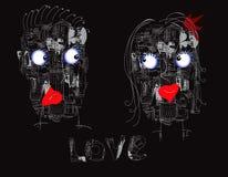 Couples des robots Photographie stock libre de droits
