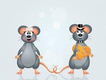 Couples des souris Photos libres de droits
