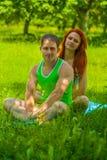 Couples des sports homme et femme photos stock