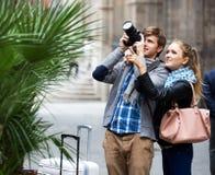 Couples des touristes Image stock