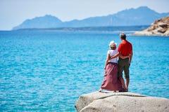 Couples des vacances de mer Photographie stock