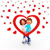 couples des Valentines 3D Photo libre de droits