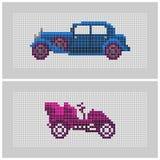 Couples des voitures texturisées d'ancien de point croisé Photo libre de droits