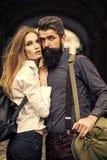 Couples des voyageurs extérieurs Image libre de droits