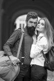 Couples des voyageurs extérieurs Photo stock