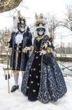 Couples déguisés Images stock