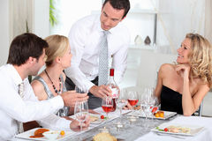 Couples at dinner Stock Photos