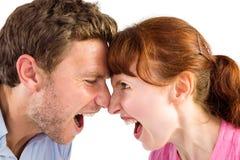 Couples discutant les uns avec les autres Photos libres de droits