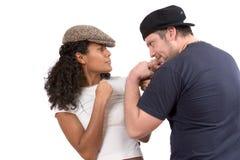 Couples divers ; Faux combat Photos libres de droits