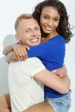 Couples doux d'isolement sur le blanc Image libre de droits