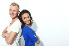 Couples doux d'isolement sur le blanc Photographie stock libre de droits