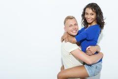 Couples doux d'isolement sur le blanc Images stock