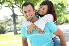 Couples doux dans l'amour Photo stock