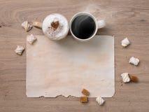 Couples doux de café Image libre de droits