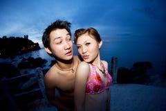 Couples drôles de visages Images stock
