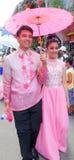 Couples du festival 2015 de PAHIYAS Photos stock