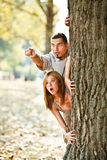 Couples effrayés Photos stock