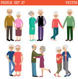 Couples of elderly people Stock Photos
