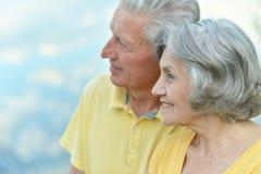 Couples en été Image stock
