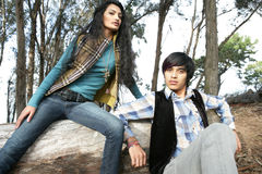 Couples en bois Images libres de droits