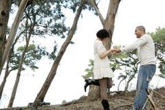 Couples en bois Images stock