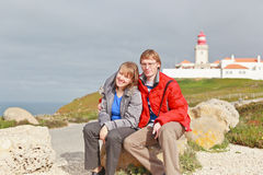 Couples en bord de l'Europe Photos stock