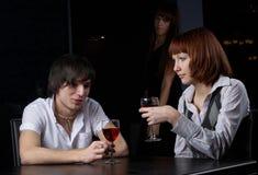Couples en café Images stock
