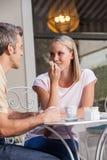 Couples en café potable d'amour Images libres de droits