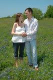 Couples en expectative Image libre de droits