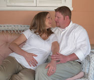 Couples en expectative Photos stock