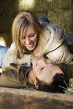 Couples en foin. images libres de droits