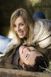 Couples en foin. Photographie stock libre de droits