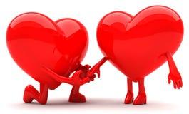 Couples en forme de coeur Image libre de droits