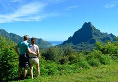 Couples en français la Polynésie française Images libres de droits