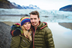 Couples en Islande Photos stock