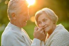 Couples en parc d'été Image libre de droits