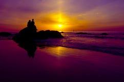 Couples en silhouette Photo libre de droits