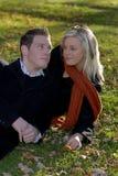 Couples en stationnement Photo stock