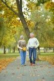 Couples en stationnement d'automne Image libre de droits