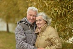 Couples en stationnement d'automne Photographie stock libre de droits