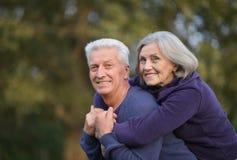 Couples en stationnement d'automne Images stock