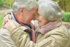 Couples en stationnement d'automne Photo libre de droits