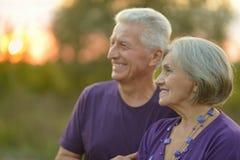Couples en stationnement d'automne Image stock