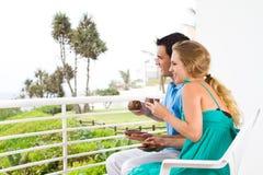 Couples en vacances Photo stock