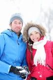 Couples en verticale de l'hiver Photos libres de droits
