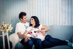 Couples enceintes Image libre de droits