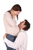 Couples enceintes dans l'amour Images libres de droits